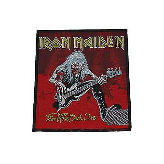 Iron Maiden Fear Of The Dark Live - Red - Woven Patch