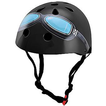 Kiddimoto Helmet - Black Goggles