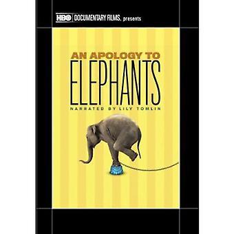 Undskyldning til elefanter [DVD] USA importerer
