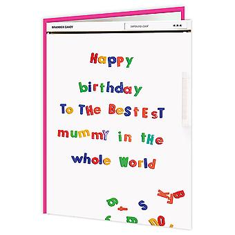 Brainbox Candy Happy Birthday Mummy Fridge Card
