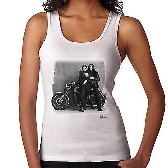 Ian Astbury og Renee Beach motorsykkel hvite kvinner Vest