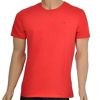 Tommy Hilfiger Organic Cotton Short Sleeved Crew Neck T-Shirt, Red, X-Large