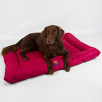 Ginger Ted Waterproof Dog Mattress  Cherry Red