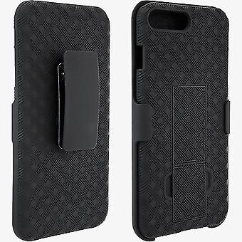 Unlimited Cellular Shell Holster for iPhone 8 Plus, 7 Plus, 6s Plus, 6 Plus (Black)