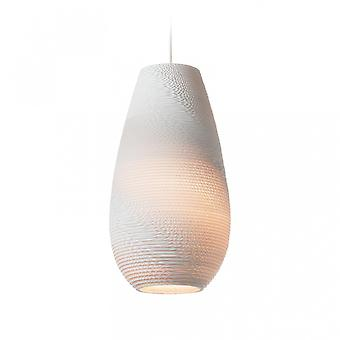 Graypants White Drop Pendant Light 18