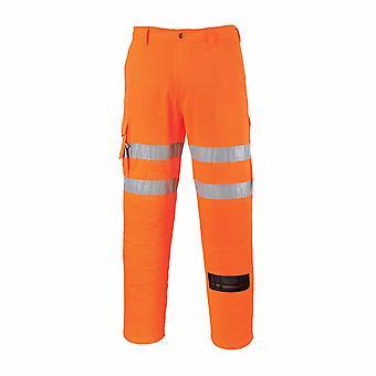 sUw - Rail Track Seite Hi-Vis Sicherheit Berufsbekleidung Combat Hosen