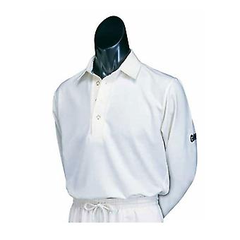Gunn and Moore Premier Club LONG Sleeve Cricket Shirt - Junior XS Boys White
