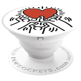 POPSOCKETS 3 Figures Holding A Heart adhesive Holder/set Premium Keith Haring