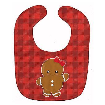 キャロラインズ宝物 BB8774BIB クリスマスのジンジャーブレッド女の子赤ちゃんよだれかけ