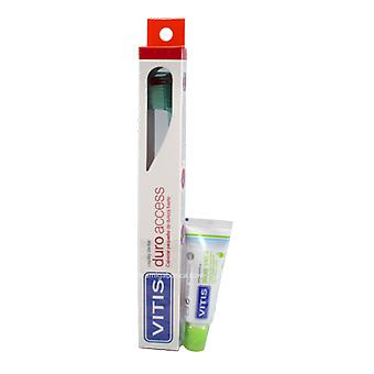 Dentaid Vitis Access Pack Adult Hard Toothbrush + Apple 15 Ml