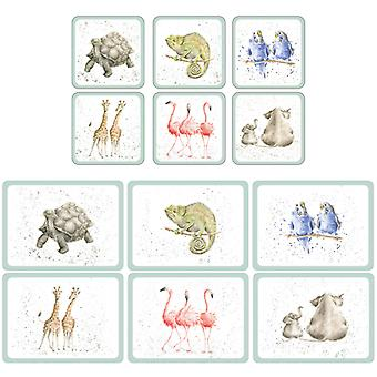 Wrendale Zoological Set of 6 Placemats and Coasters