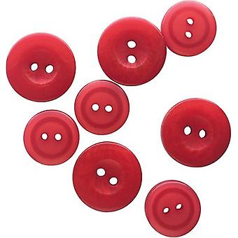 Button Up! Snack Pack Buttons 8/Pkg-Cherry JABC8-01