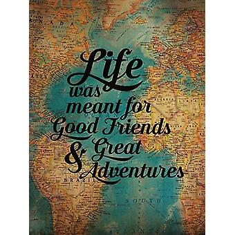 Good Friends - Great Adventure Poster Print by Susan Ball (12 x 16)