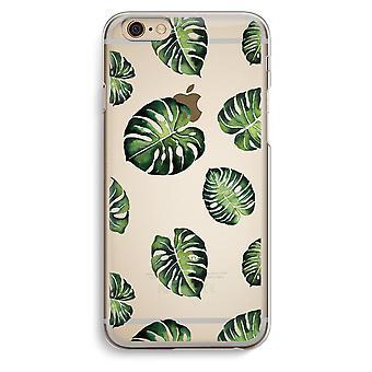 Custodia trasparente iPhone 6 6s (Soft) - Tropical leaves