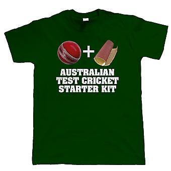 Kit de démarrage de Cricket Test australien, T-Shirt drôle de Mens