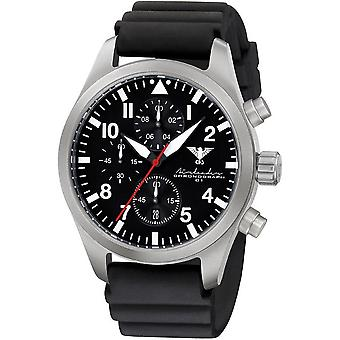 KHS mens watch Airleader Steel Chronograph KHS. AIRSC. DB