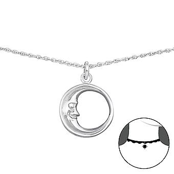 Moon - 925 Sterling Silver Chokers - W35137x