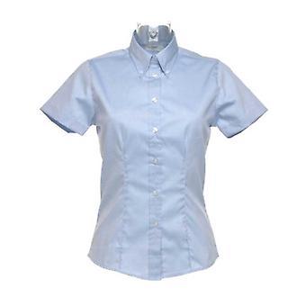 Kustom Kit Smart Corporate Ladies Short Sleeved Oxford Formal Work blouse