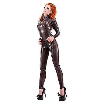 Westward Bound Montmartre Latex Rubber Catsuit. Semi-Transparent Black.