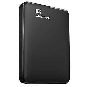 WD 500GB Elements Portable External Hard Drive - USB 3.0, for PC, Xbox One and PlayStation 4 - Black