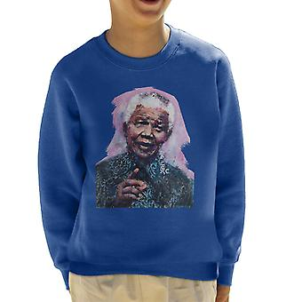 Sidney Maurer Original Portrait Of Nelson Mandela Kid's Sweatshirt