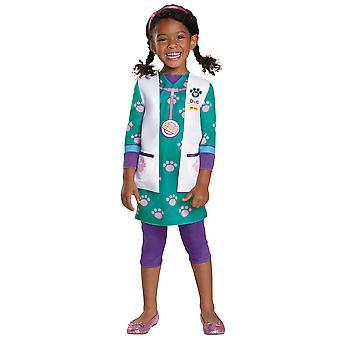 Traje do doutor Pet Vet clássico Disney Doc McStuffins Hospital da criança das meninas