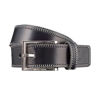 OTTO KERN belts men's belts leather belt Navy/Blue 3000