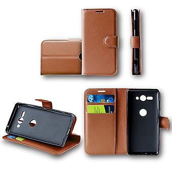 For Huawei Y6 2018Tasche wallet premium Brown Schutz sleeve case cover pouch new accessories