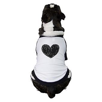 服装と一致する小さなペット家族愛心ペット野球シャツ