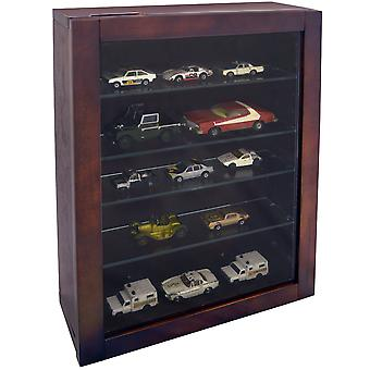 Collection - Wall Display Cabinet With 4 Glass Shelves - Mahogany