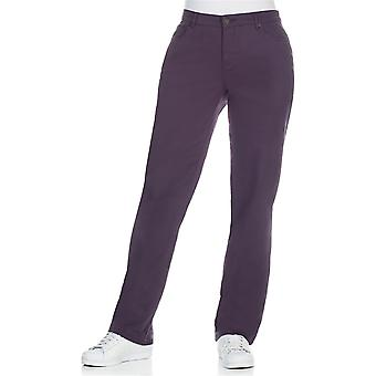 sheego ladies stretch trousers casual look purple