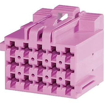 TE Connectivity Socket enclosure - cable J-P-T Total number of pins 18 Contact spacing: 5 mm 1-967624-4 1 pc(s)