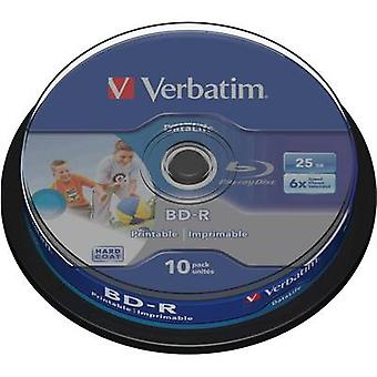 Blank Blu-ray BD-R 25 GB Verbatim 43804 10 pc(s) S