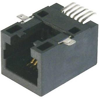 ASSMANN WSW A-20041-LP/SMT-A Modular Panel Bush - SMD 6 RJ12 Socket, straight