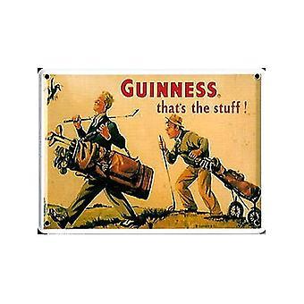 Guinness Golfer Steel Postcard / Mini Sign