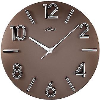 Quartz wall clock wall clock Brown plastic wall clock quartz