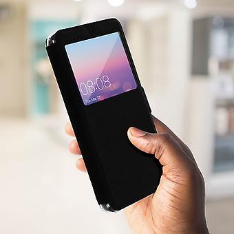Tapa caja con ventana para Huawei P20 por Colorfone - negro