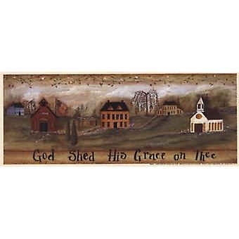 God Shed His Grace on Thee Poster Print by Pat Fischer (10 x 4)