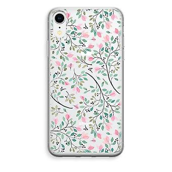 iPhone XR Transparant Case - Dainty flowers