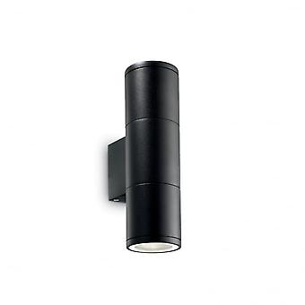 Ideal Lux Gun Outdoor Double Twin Small Black Up Down Wall Light