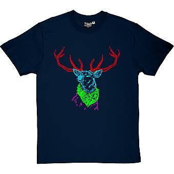 Psychedelic Deer Variant One  Men's T-Shirt