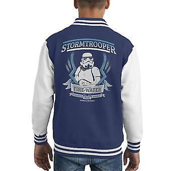 Opprinnelige Stormtrooper brann vann barneklubb Varsity jakke