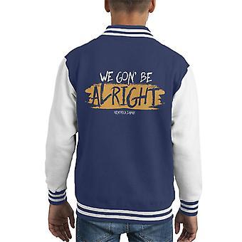 We Gon Be Alright Kendrick Lamar Alright Lyrics Kid's Varsity Jacket