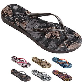 Womens Havianias Slim Animal Thongs Rubber Brazil Multi Sandal Flip Flops