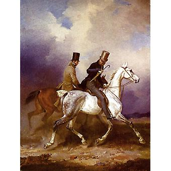 Outing of Prince William of Prussia, Franz Kruger, 31x24cm