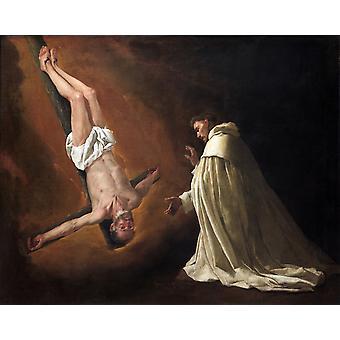 Darstellung des Heiligen Petrus, Saint, Francisco de Zurbaran, 50x40cm