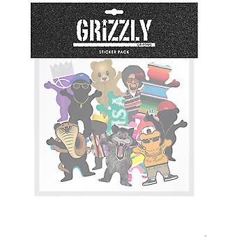 Grizzly Assorted Character Sticker Pack Sticker Pack