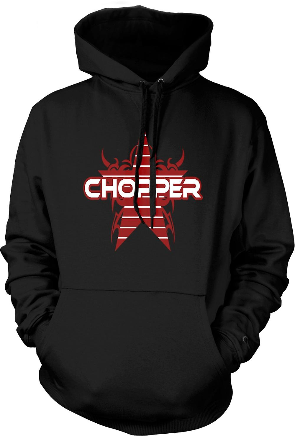 Mens Hoodie - Chopper Retro Bike - Funny