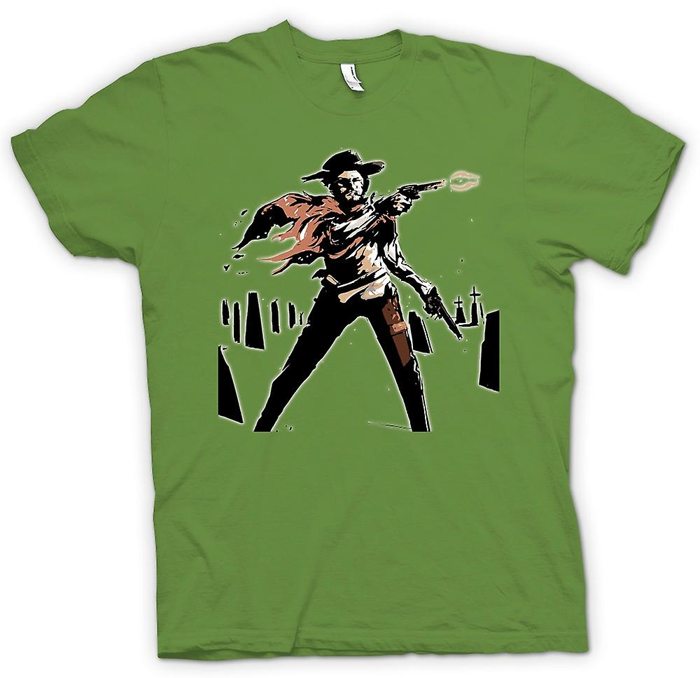 Mens t-shirt-Spaghetti Western - Cowboy - schizzo