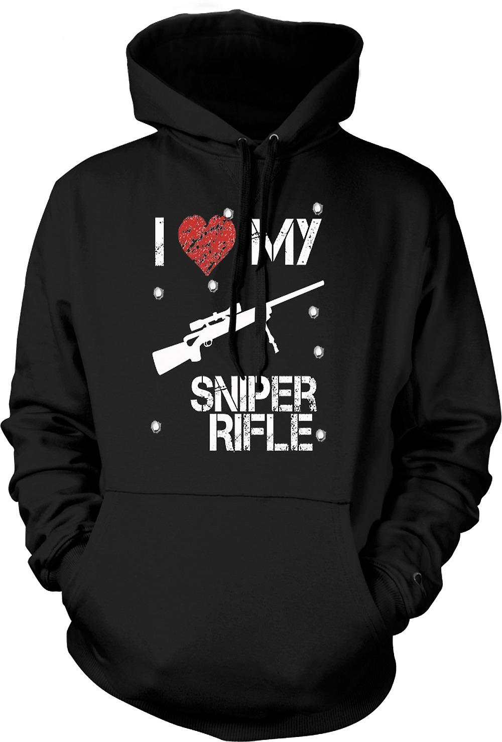 Mens Hoodie - I Love My Sniper Rifle - Funny